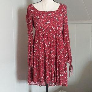 AE lightweight long sleeve floral dress